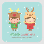 Cute Reindeer Kids Merry Christmas Party Favours