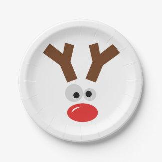 Cute reindeer paper plate