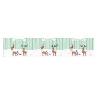 Cute Reindeers Christmas table runners