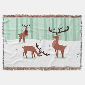 Cute Reindeers throw blanket