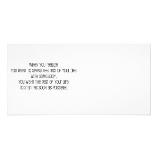 """Cute, """"Rest of your life"""" Marriage quote Photo Cards"""