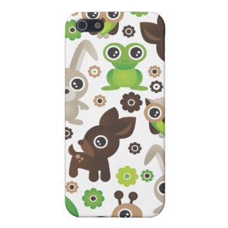 Cute retro animal pattern kids iphone case iPhone 5/5S cases
