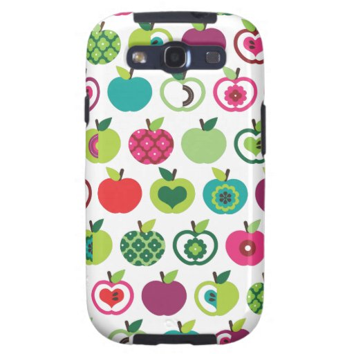 Cute retro apple flower pattern design galaxy s3 covers