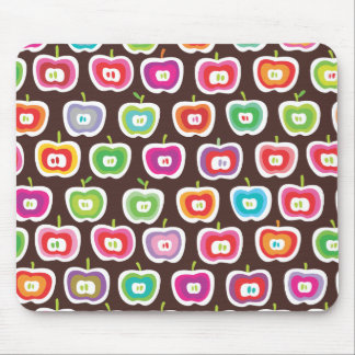 Cute retro apple fruit pattern moue pad mouse pad