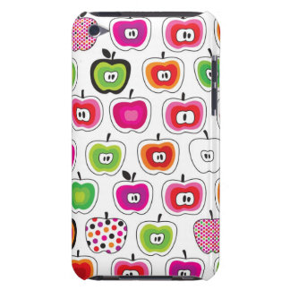 Cute retro apple pattern barely there iPod case