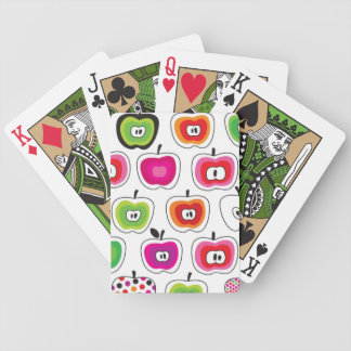Cute retro apple pattern bicycle playing cards