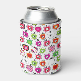 Cute retro apple pattern can cooler