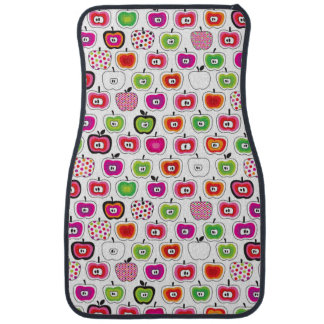 Cute retro apple pattern car mat