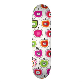 Cute retro apple pattern custom skateboard