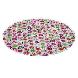 Cute retro apple pattern cutting board