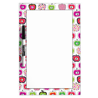 Cute retro apple pattern dry erase board