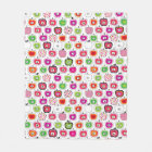 Cute retro apple pattern fleece blanket