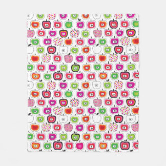 Cute retro apple pattern fleece blanket