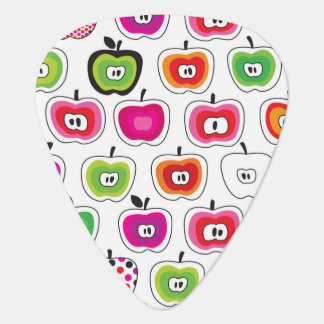 Cute retro apple pattern guitar pick