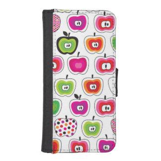Cute retro apple pattern iPhone SE/5/5s wallet case