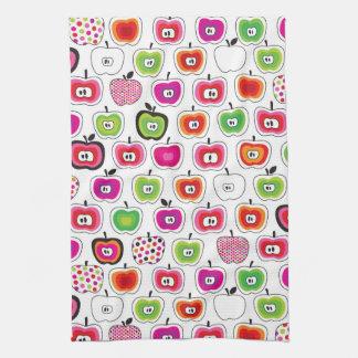Cute retro apple pattern kitchen towel