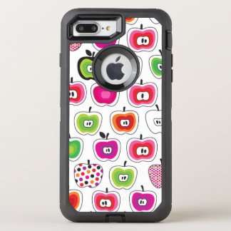 Cute retro apple pattern OtterBox defender iPhone 8 plus/7 plus case