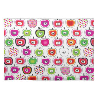 Cute retro apple pattern placemat