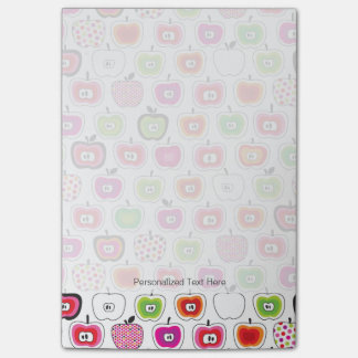 Cute retro apple pattern post-it notes