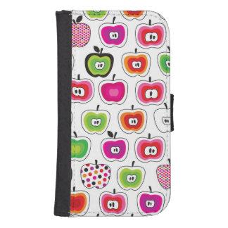 Cute retro apple pattern samsung s4 wallet case