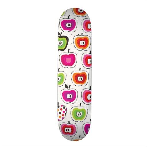 Cute retro apple pattern skateboard decks