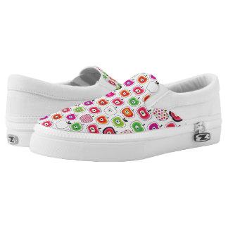 Cute retro apple pattern slip on shoes