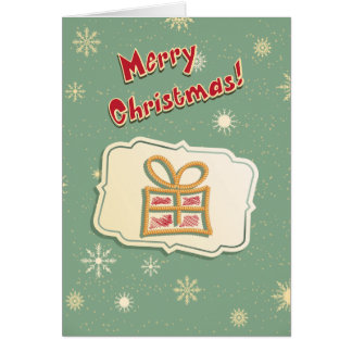 Cute Retro Christmas Card