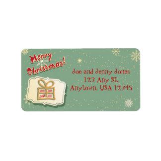 Cute Retro Christmas Label