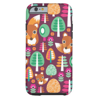 Cute retro colorful fox tree kids iPhone 6 case Tough iPhone 6 Case