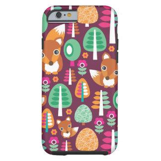 Cute retro colorful fox tree kids iPhone 6 case Tough iPhone 6 Case