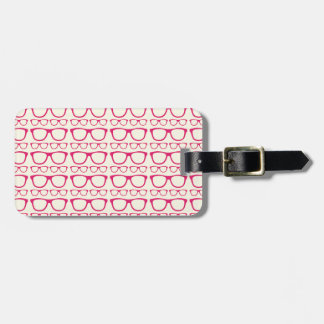 Cute Retro Eyeglass Hipster Luggage Tag