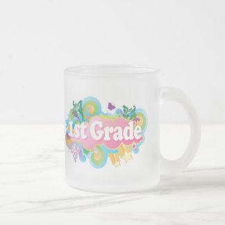 Cute Retro First Grade Frosted Glass Mug