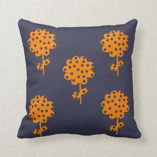 Cute Retro floral Throw Pillow