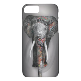 Cute Retro Flower Elephant iPhone 7 Case