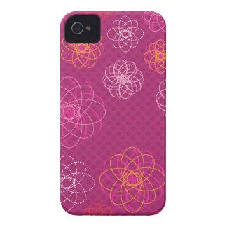 Cute retro flower pattern blackberry case