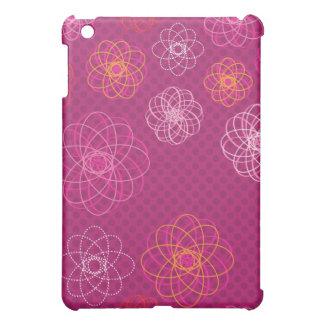 Cute retro flower pattern ipad case