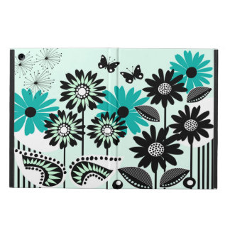 Cute retro flowers, leaves and butterflies case for iPad air