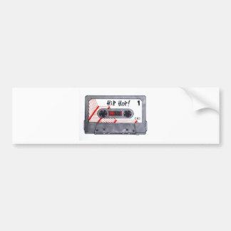 Cute retro hip hop mixtape bumper stickers
