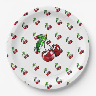 Cute Retro Like Cherry Party Paper Plates