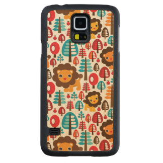 cute retro Lion kids illustration Carved Maple Galaxy S5 Case