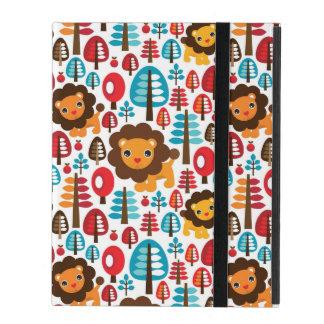 cute retro Lion kids illustration iPad Cover