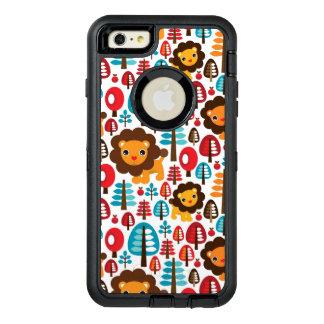 cute retro Lion kids illustration OtterBox Defender iPhone Case
