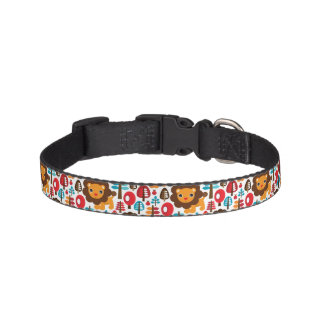 cute retro Lion kids illustration Pet Collar
