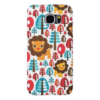 cute retro Lion kids illustration Samsung Galaxy S6 Cases