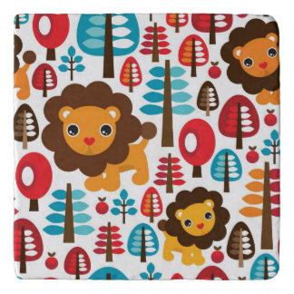 cute retro Lion kids illustration Trivet