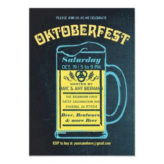 Cute Retro Oktoberfest Invitations | Chalkboard