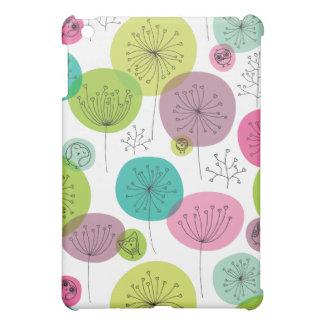 Cute retro owl and trees pattern design iPad mini cover