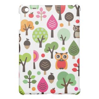 Cute retro owl and trees pattern ipad case