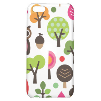 Cute retro owl and trees pattern iphone case iPhone 5C cover