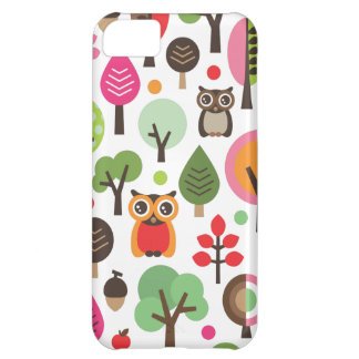 Cute retro owl and trees pattern iphone case case for iPhone 5C